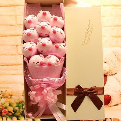 Hot Lovely Pig Family Plush Toy Doll Flower Birthday Creative Valentine Gift Box](Pig Valentine Box)