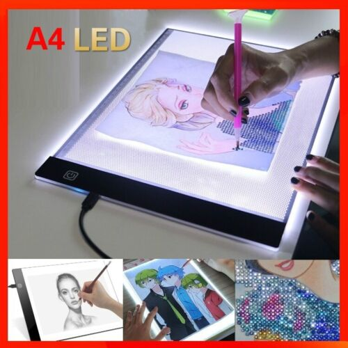 "A4 15.5"" Screen Led Adjustable Light Box Diamond Painting Pad Drawing Copy Board"