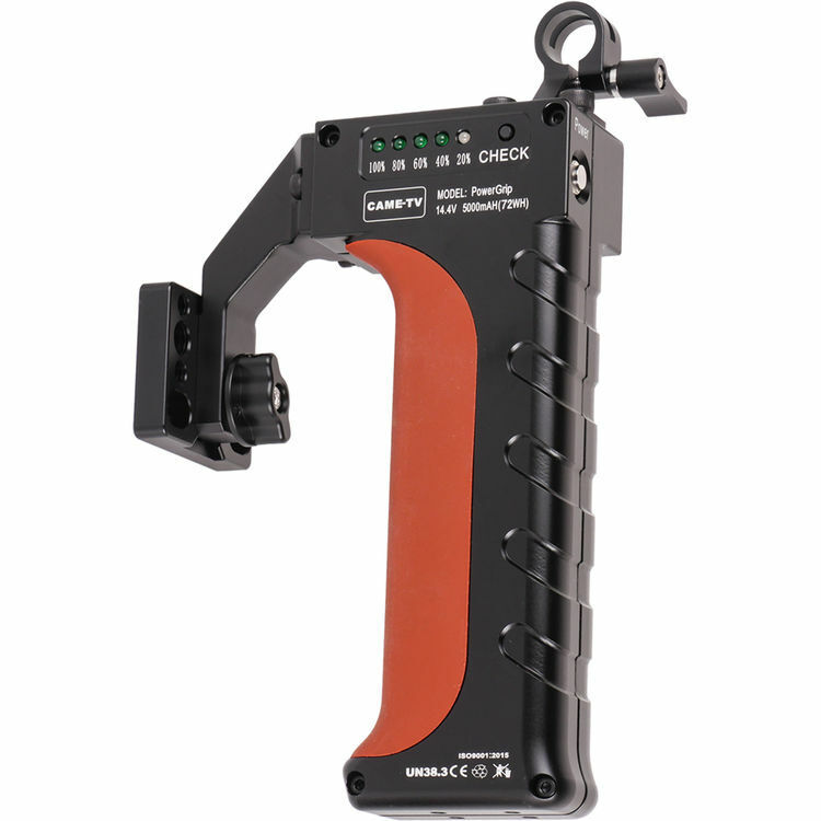 CAME-TV 70Wh Handle Battery PowerGrip Mount Adapter (Dummy Battery LP-E6, Black)