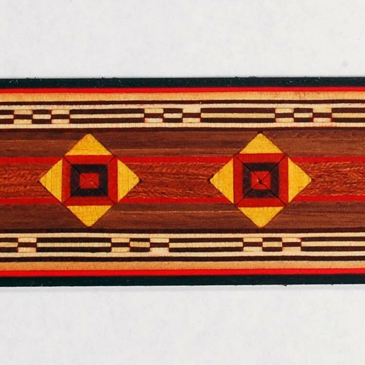 Beautiful Geometric Buffard Frères Marquetry Banding Strips (Inlay-13)