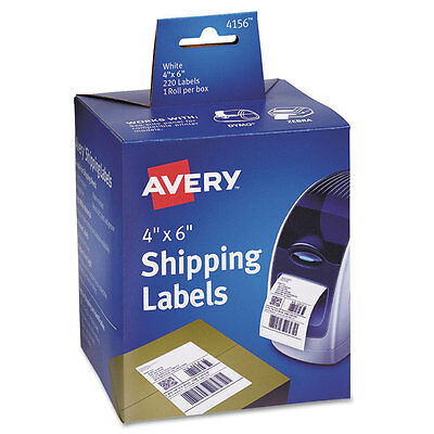 Avery Thermal Printer Shipping Labels 4 X 6 White 220roll 1 Roll 4156