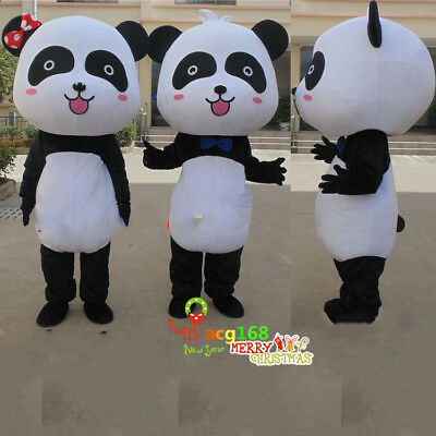 Panda Bear Mascot Costume Suit Cosplay Party Game Fancy Dress Outfits - Adult Panda Suit