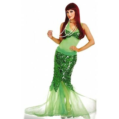ADULT WOMENS BLUE LAGOON MERMAID COSTUME SEXY SEQUIN GREEN ARIEL PIRATE DRESS](Adult Ariel Dress)
