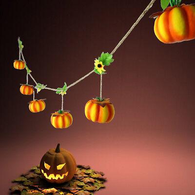 Halloween Shop (Halloween Pumpkin Pendant Hanging Foam String Home Mail Shop Decor Ornament 6FT)