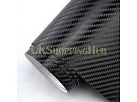4D Black Car Wrap Vinyl Sticker Sheet All Purpose Many Sizes