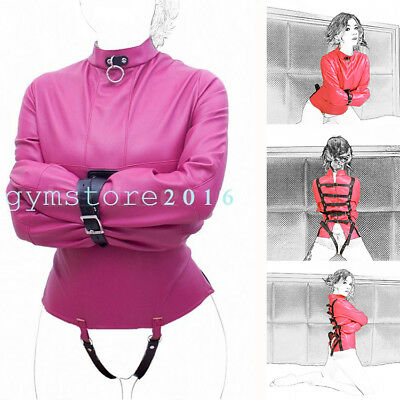Rosy Body Harness Straight Jacket Halloween Costume Unisex S/M L/XL Armbinder (Straight Jacket Halloween Costume)