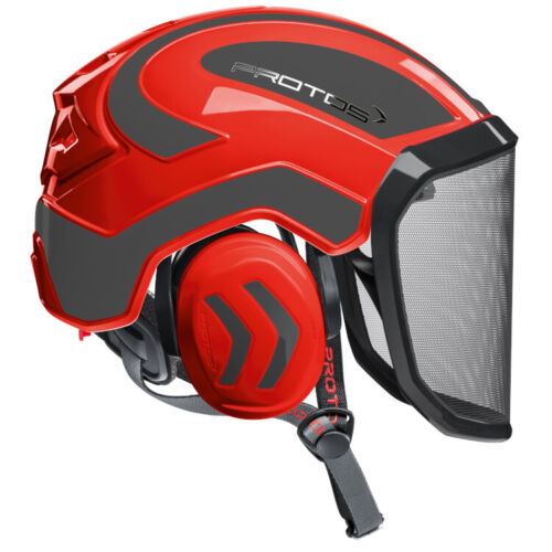 PROTOS HELMET RED AND GRAY Pfanner Protos Integral Arborist Helmet Climbing