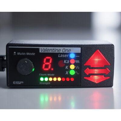 RARE COLOR LED Valentine One Concealed Display!!  Multi-Color Radar & Strength ](Valentines Coloring)