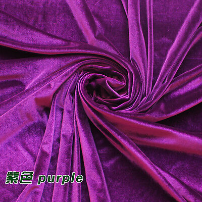 Ткань Purple clothing velvet fabric Velour