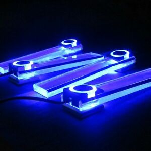 4pcs car interior under dash decorative led lights lamp blue color. Black Bedroom Furniture Sets. Home Design Ideas