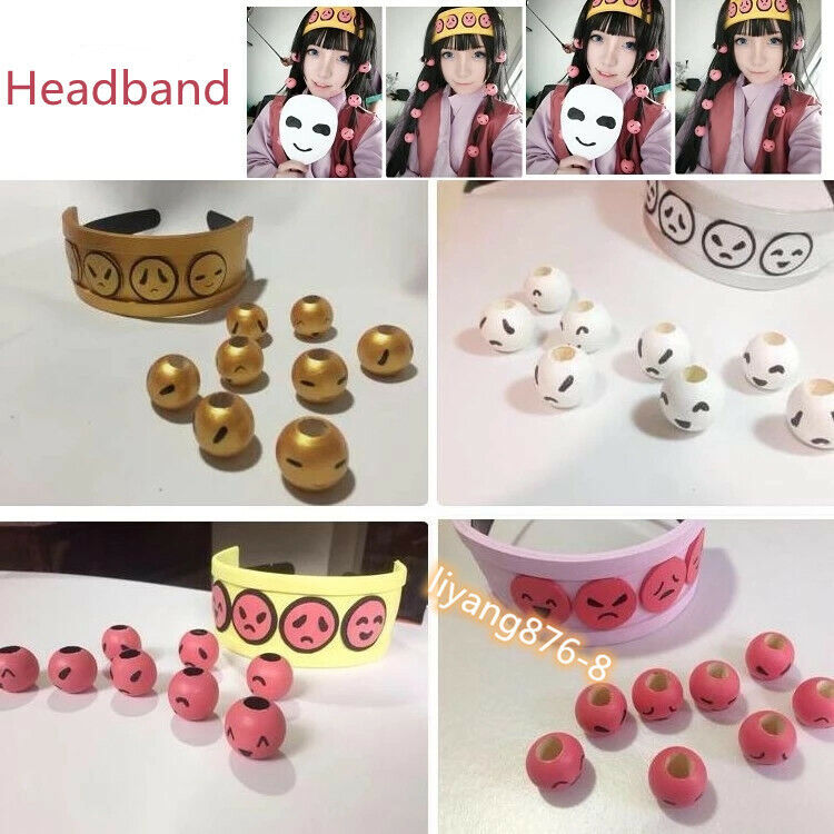HUNTER x HUNTER Alluka Zoldyck Cosplay Headdress Beads Hair Wear Headband Prop