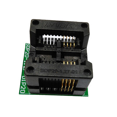 Sop8 Soic8 To Dip8 Test Socket Adapter 209mil Pitch 1.27mm Ic Body Width 5.4mm