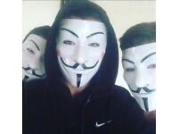 Vendetta Annonymous Masks
