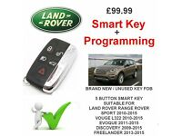 LAND ROVER Smart Key Supply & Program RANGE ROVER SPORT VOUGE L322 EVOQUE DISCOVERY FREELANDER