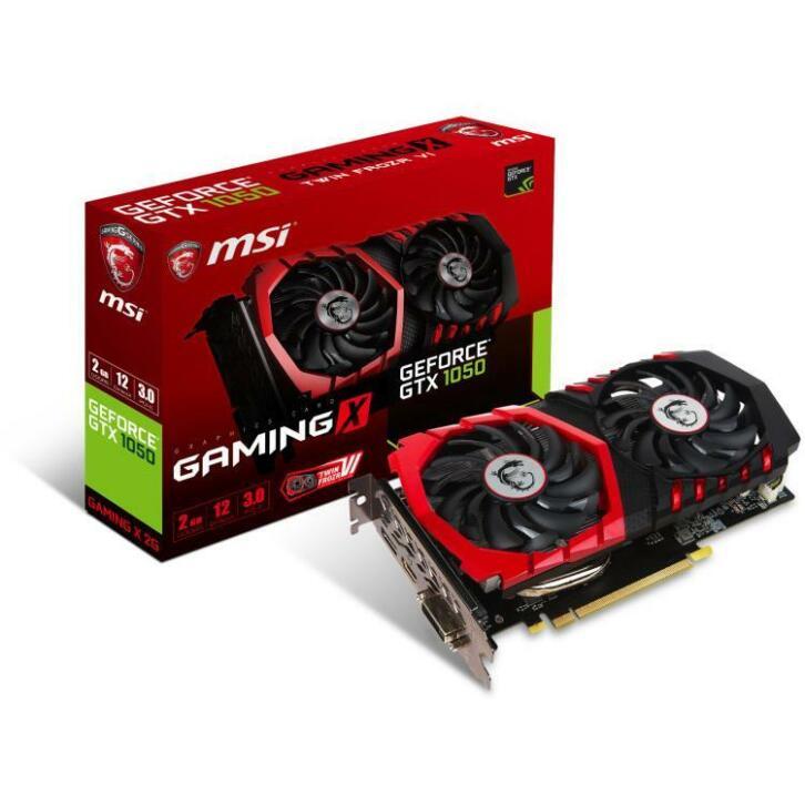 MSI GeForce GTX 1050 GAMING X 2G grafische kaart