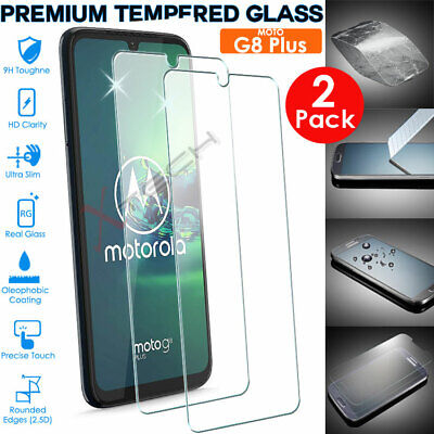 2x 100% Genuine TEMPERED GLASS Screen Protector Cover for Motorola Moto G8 Plus