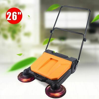 New 26 Commercial Large Area Floor Push Sweeper Industrial Floor Boards Clean