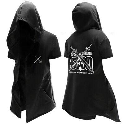Sword Art Online Kirito Asuna Cosplay Costume 3D Hoodie Jacket Coat Top new