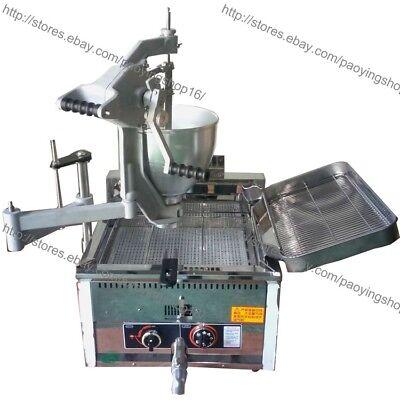 3-mold Heavy Duty Manual Doughnut Hole Donut Ball Machine Maker Lpg Gas Fryer