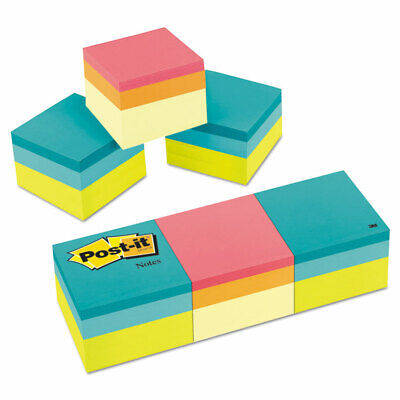 Post-it Mini Cubes 2 X 2 Canary Yellowgreen Wave 400-sheet 3pack 20513pk