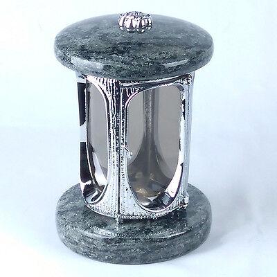 Grablampe Granit Grablaterne Grablicht Friedhofslaterne Grableuchte Grabschmuck