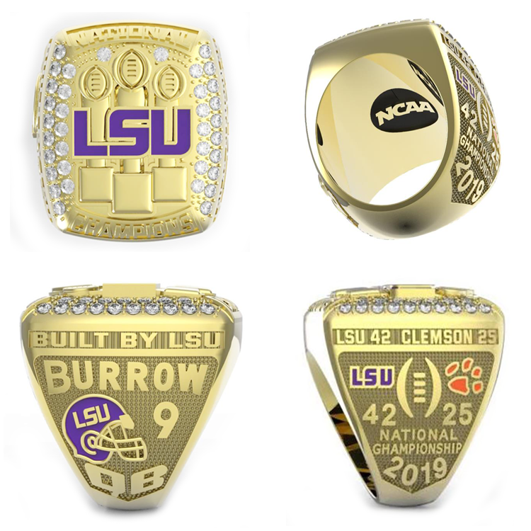 2019 LSU Tigers Championship Ring BURROW CFP National Champions Size 6-15 New - $20.98