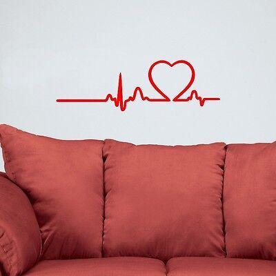 Love Rhythm Heart Beat Wall Decal Vinyl Sticker