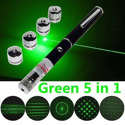 Green 5 In 1 Presenter Powerpoint Visible Laser Pointer Presentation Remote Pen