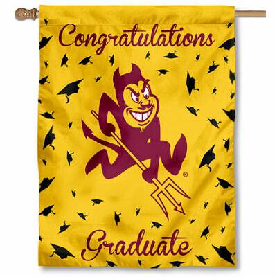 Arizona State University Graduation Gift Decorative Flag - Asu Decorations