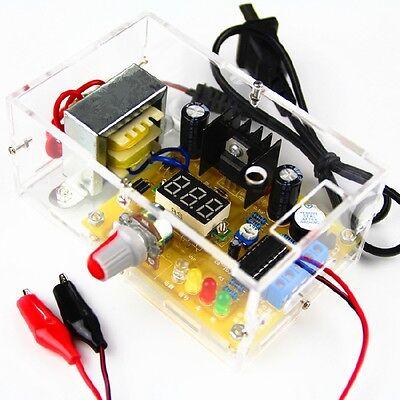 Lm317 1.25v-12v Adjustable Regulated Voltage Power Supply Us Plug Diy Kits