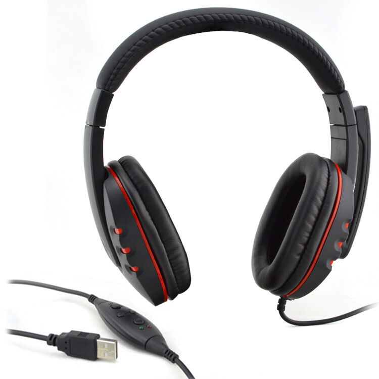 USB Live Headset Headphone Microphone for PlayStation 3 PC Laptop