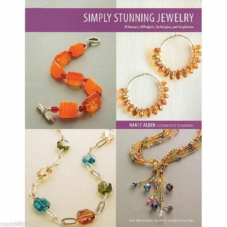 Beading Pattern Book SIMPLY STUNNING JEWELRY ~ Earrings, Necklaces, Bracelets ++