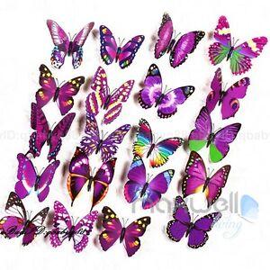 12Pcs 3D Butterfly