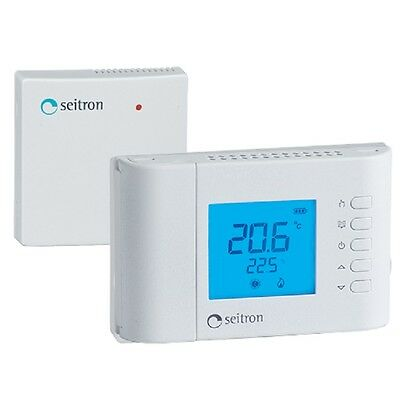 Seitron Termostato Digitale LCD Multifunzione con Radio senza fili WiFi Wireless