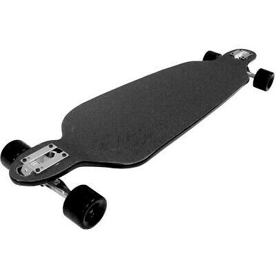 "Moose Longboard 9.75"" x 39.75 Dipped Black Double Drop Cruiser Skateboard"
