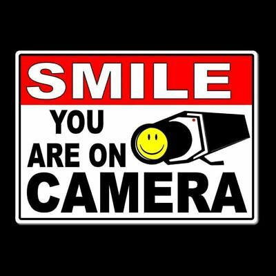 - Smile You Are On Camera Sign Metal warning video surveillance security ms005