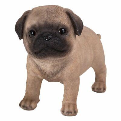 New PUPPY DOG Figurine Statue PUG TAN STANDING Sculpture Figure HOME DECOR Cute](Pug Decor)