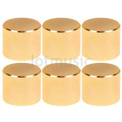6 Pcs 26x21mm Gold Knob Cap Aluminum Potentiometer Knobs Cap New