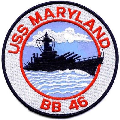 US NAVY BB-46 USS SHIP Maryland military PATCH