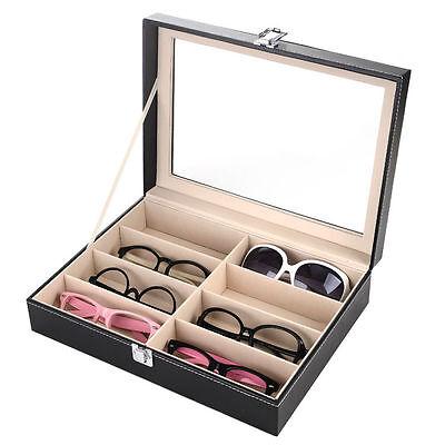 Brillenkoffer 8 Brillen Brillenaufbewahrung Brillenpräsentation Brillenbox Glas
