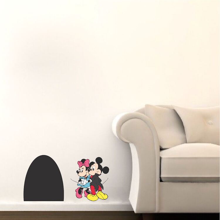 Mickey Mouse Wall Decal   Minnie Mouse Wall Design   Mouse Hole Wall Decal  B39