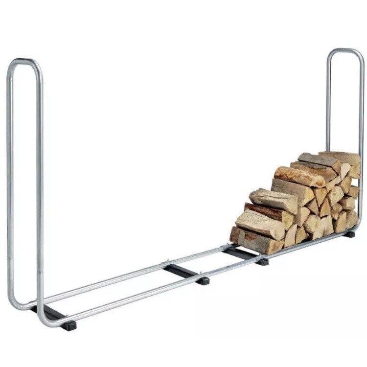 Large Log Store Metal Firewood Log Storage Rack Indoor / Outdoor   Kindling  Logs Stove Burner