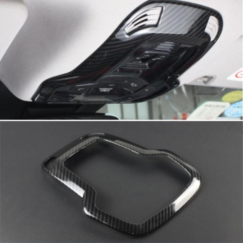 Carbon Fiber Front Reading Light Lamp Cover Trim For Alfa