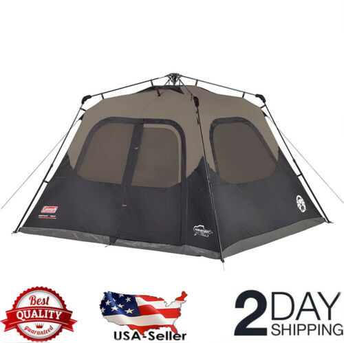 Coleman 6-Person Cabin Tent with Instant Setup, Sets Up in 60 Seconds
