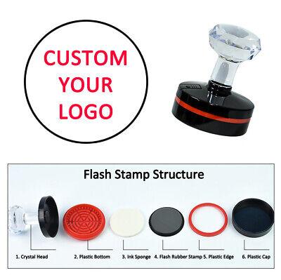 Custom Round Stamp Brand LOGO Text Business Address Name Teacher Wedding Stamper