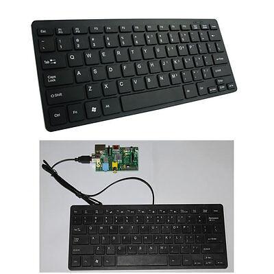 Ace Tastatur (Mini USB Tastatur für Raspberry Pi Slim Leise Verkabelt)