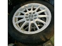 "15"" white multi stud alloy.. 3 mint tyres!!"