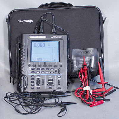 Tektronix Ths720a Handheld Battery Operated Dmm100 Mhz 500 Mss Oscilloscope