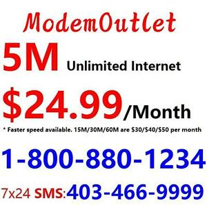 Free wired modem,Free shipping - Unlimited cable internet plan $24.99/month and up - Please call 1-800-880-1234 to order