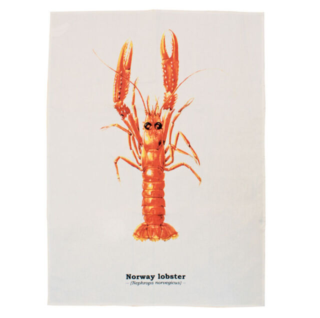 Lobster Tea Towel - Ecologie Piscis Range by Gift Republic